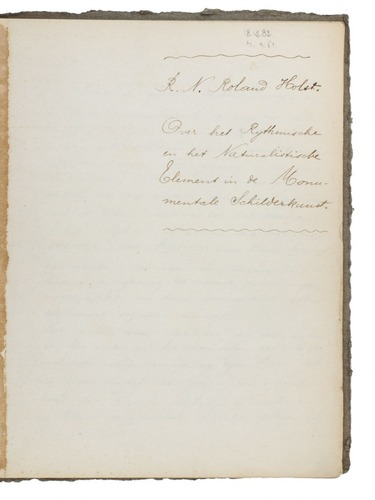 Original Manuscripts Of Two Influential Essays On Art And Society