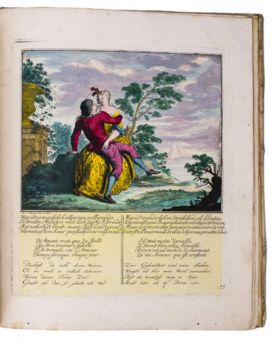 Harlequin with a black head: 34 prints in 2 series, coloured